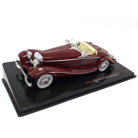 Mercedes Benz 540K Special Roadster 1936 donkerrood - Modelauto 1:43