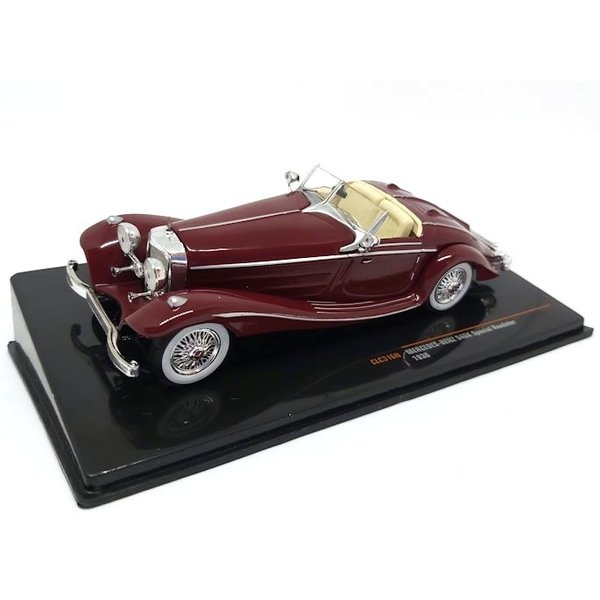 Modelauto Mercedes Benz 540K Special Roadster 1936 donkerrood 1:43