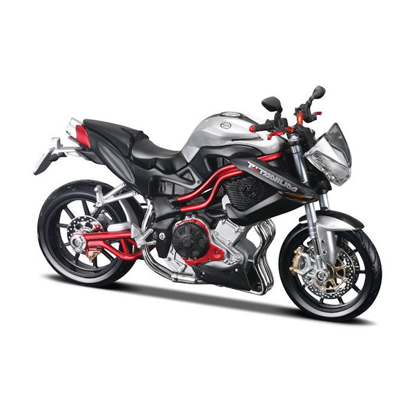 Model motorcycle Benelli Tornado Naked TRE R160 silver/black 1:12 | Maisto