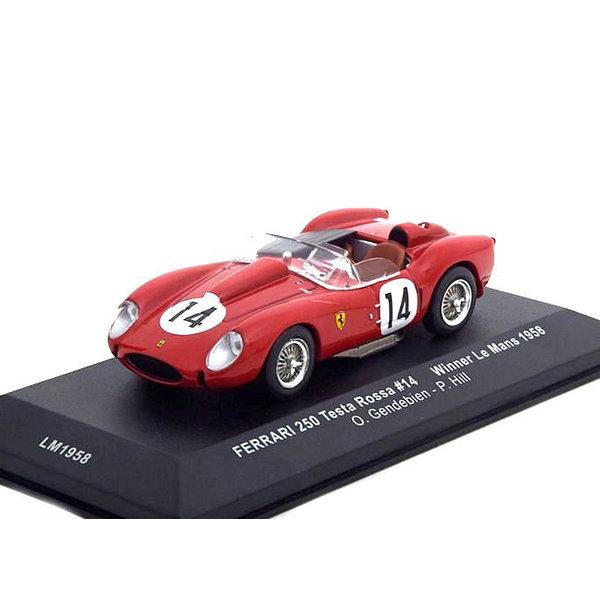 Modelauto Ferrari 250 Testa Rossa No. 14 1958 rood 1:43