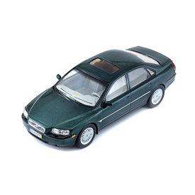Premium X Model car Volvo S80 1999 dark green metallic 1:43