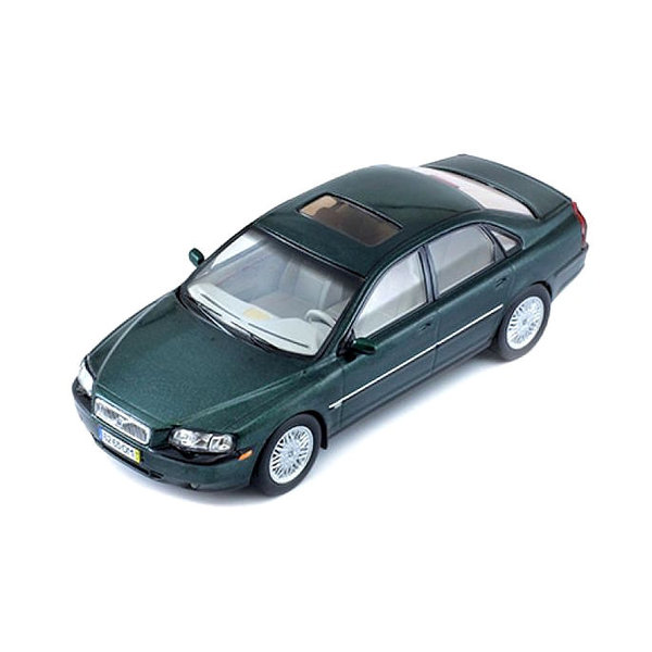 Model car Volvo S80 1999 dark green metallic 1:43