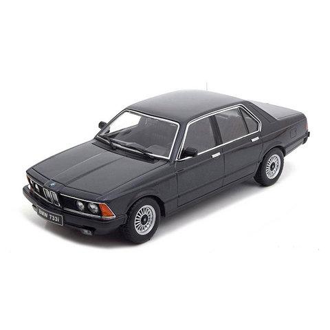 BMW 733i (E23) 1977 black metallic - Modelauto 1:18