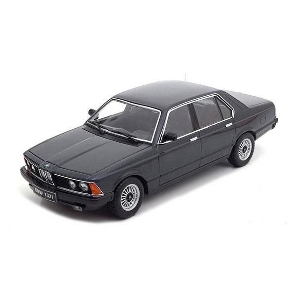 Model car BMW 733i (E23) 1977 black metallic 1:18