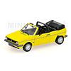 Model car Volkswagen VW Golf Cabriolet 1980 yellow 1:43