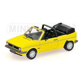 Minichamps Volkswagen VW Golf Cabriolet 1980 geel - Modelauto 1:43
