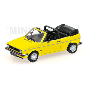 Minichamps Volkswagen VW Golf Cabriolet 1980 yellow - Model car 1:43