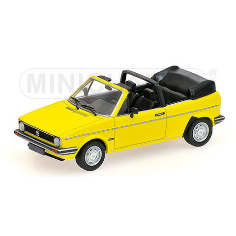 Volkswagen VW Golf Cabriolet 1980 geel - Modelauto 1:43