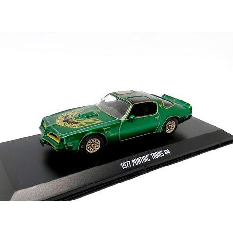 Pontiac Firebird Trans Am 1977 groen metallic - Modelauto 1:43