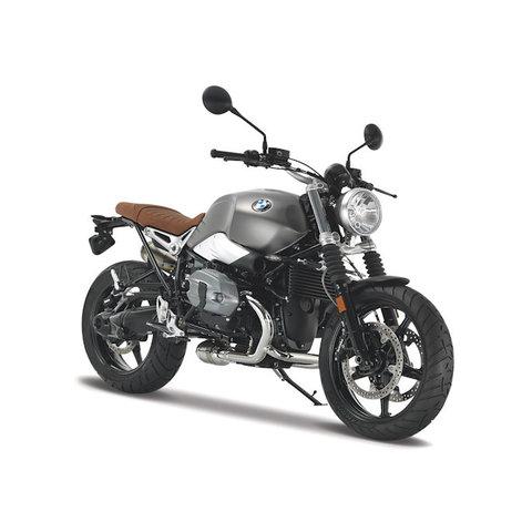 BMW R nineT Scrambler grey - model motorcycle 1:12