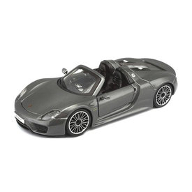 Bburago | Modelauto Porsche 918 Spyder grijs metallic 1:24