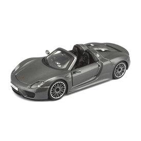 Bburago Porsche 918 Spyder grey metallic - Model car 1:24
