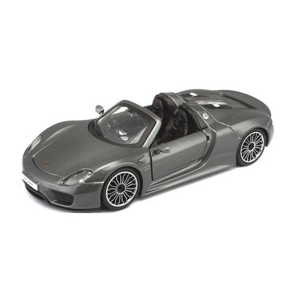 Model car Porsche 918 Spyder grey metallic 1:24 | Bburago