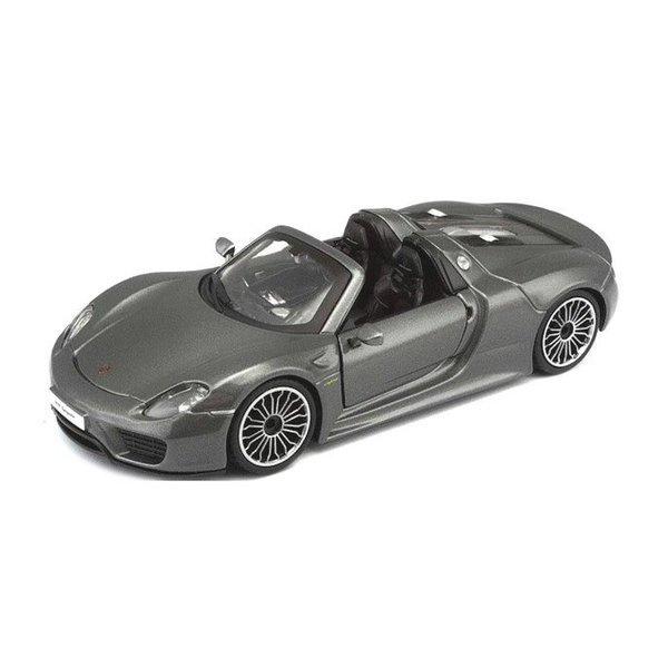 Model car Porsche 918 Spyder grey metallic 1:24