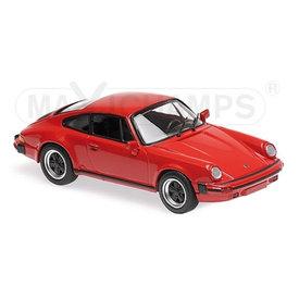 Maxichamps Porsche 911 SC 1979 rood - Modelauto 1:43