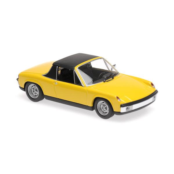 Model car Volkswagen Porsche 914/4 1972 yellow 1:43