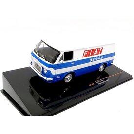 Ixo Models Fiat 238 bestelwagen 1971 'Fiat Service' wit/blauw - Modelauto 1:43