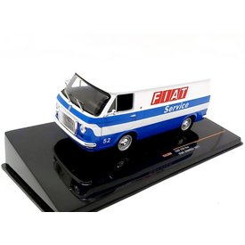 Ixo Models Fiat 238 Van 1971 'Fiat Service' white/blue - Model car 1:43