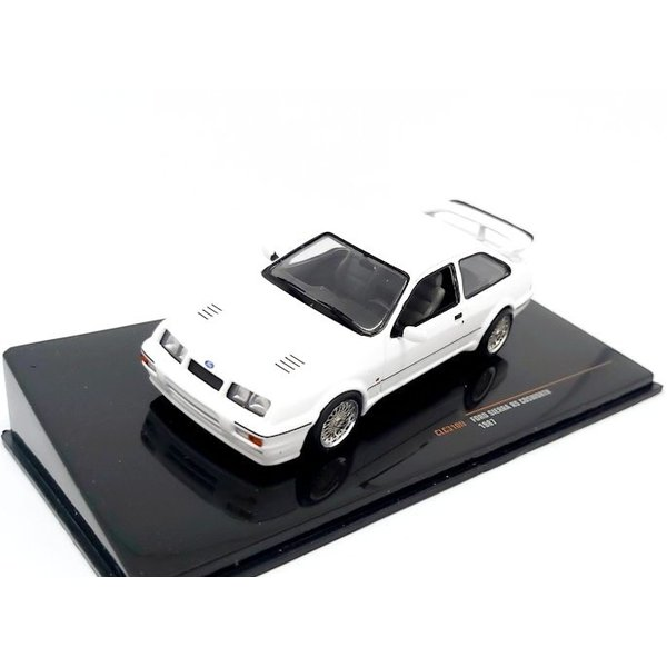 Model car Ford Sierra RS Cosworth 1987 white 1:43