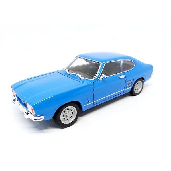 Modelauto Ford Capri 1969 lichtblauw 1:24   Welly