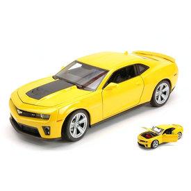 Welly Chevrolet Camaro ZL1 2012 geel/zwart - Modelauto 1:24