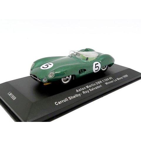 Aston Martin DBR 1/130 no. 5 1959 groen metallic - Modelauto 1:43