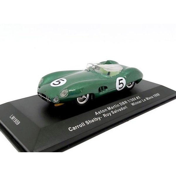 Model car Aston Martin DBR 1/130 no. 5 1959 green metallic 1:43