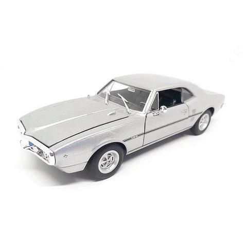 Modelauto Pontiac Firebird 1967 zilver 1:24