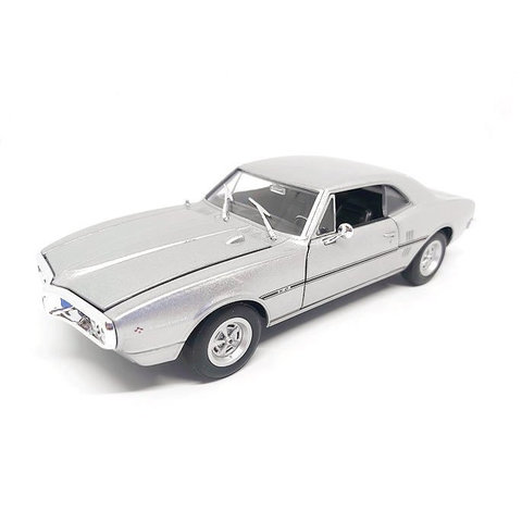 Pontiac Firebird 1967 zilver - Modelauto 1:24