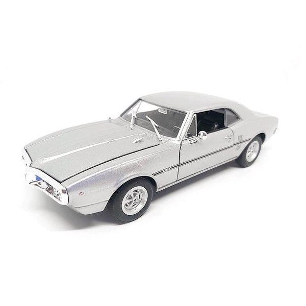 Model car Pontiac Firebird 1967 silver 1:24