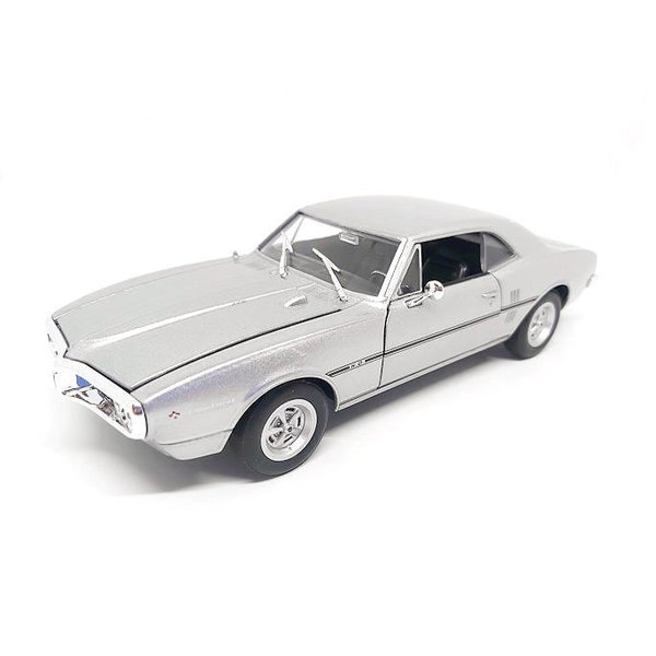 Modelauto Pontiac Firebird 1967 zilver 1:24 | Welly