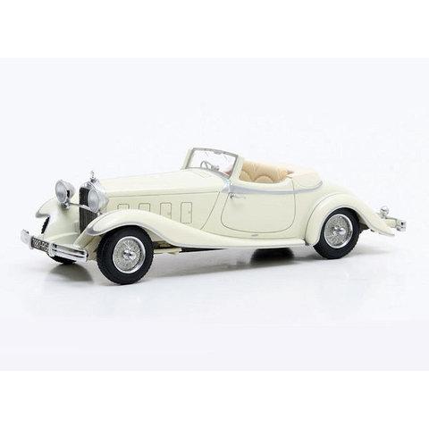 Delage D8S De Villars Roadster 1933 cream - Model car 1:43