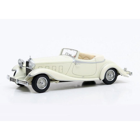 Delage D8S De Villars Roadster 1933 creme - Modelauto 1:43