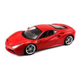 Bburago Ferrari 488 GTB rood - Modelauto 1:18