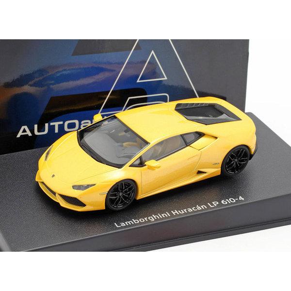 Model car Lamborghini Huracan LP 610-4 yellow metallic 1:43