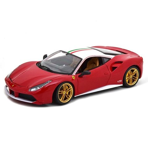 Ferrari 488 GTB The Lauda 70th Anniversary Collection red/white - Modelauto 1:18