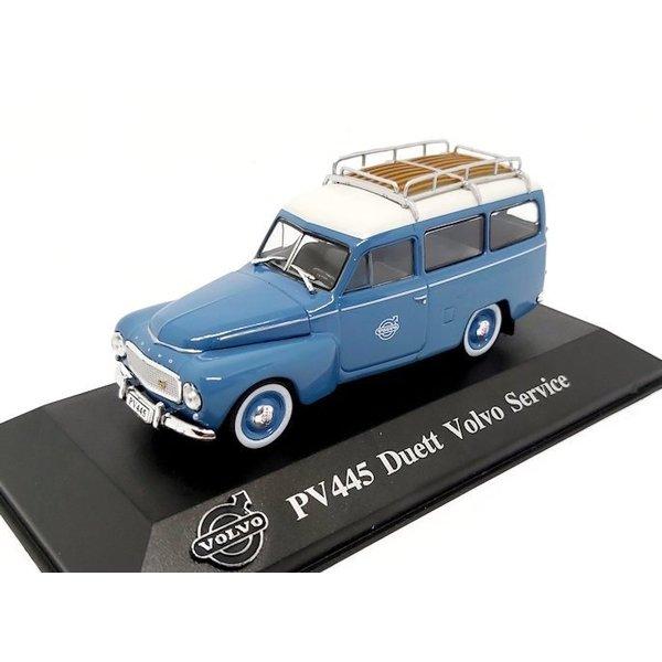 Model car Volvo PV445 Duett 'Volvo Service' blue/white 1:43