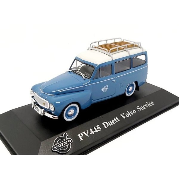 Modelauto Volvo PV445 Duett 'Volvo Service' blauw/wit 1:43
