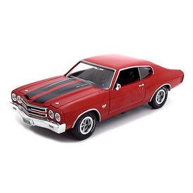 Ertl / Auto World Chevrolet Chevelle SS 396 1970 rood - Modelauto 1:18