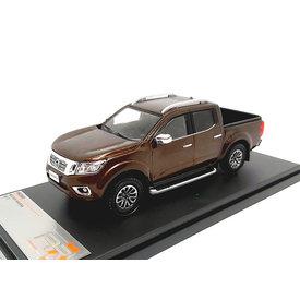 Premium X Nissan Navara 2017 bruin metallic - Modelauto 1:43