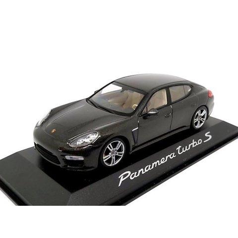 Porsche Panamera Turbo S 2013 donkergrijs metallic - Modelauto 1:43
