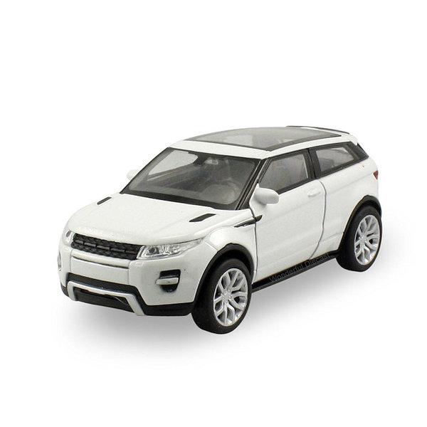Modellauto Land Rover Range Rover Evoque Coupe weiß 1:24
