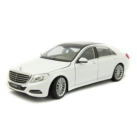 Welly Model car Mercedes Benz S-Class (W222) white 1:24