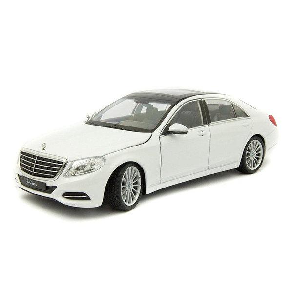 Modellauto Mercedes Benz S-Klasse (W222) weiß 1:24