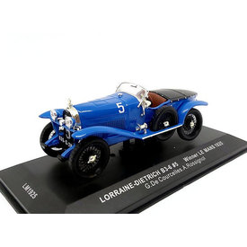 Ixo Models Lorraine-Dietrich B3-6 No. 5 1925 blauw - Modelauto 1:43
