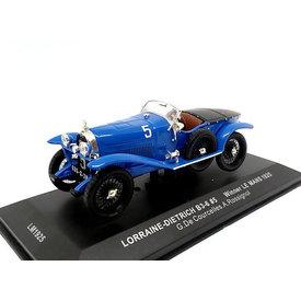 Ixo Models Modelauto Lorraine-Dietrich B3-6 1925 No. 5 blauw 1:43