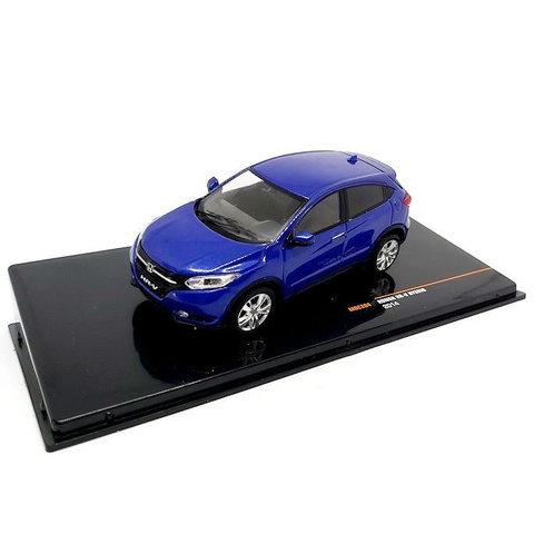 Honda HR-V Hybrid 2014 blauw metallic - Modelauto 1:43