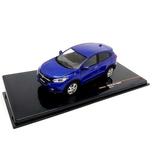 Modellauto Honda HR-V Hybrid 2014 blau metallic 1:43