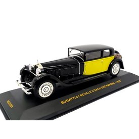 Ixo Models Bugatti 41 Royale Coach (Weymann) 1929 black/yellow - Model car 1:43