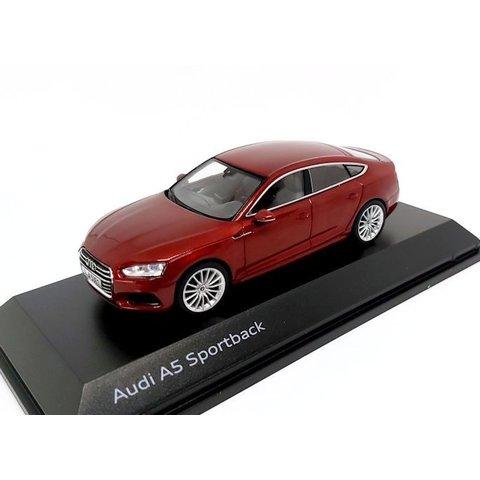 Audi A5 Sportback 2017 rood metallic - Modelauto 1:43
